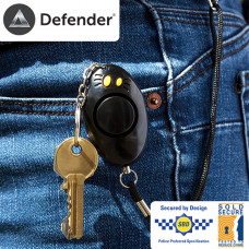 Defender Mini All Purpose LED Torch and Panic Button (Black)