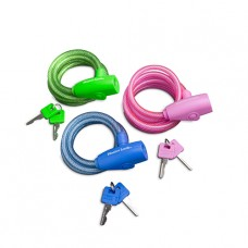Bike Lock 1.8m self coiling cable - Various Colours